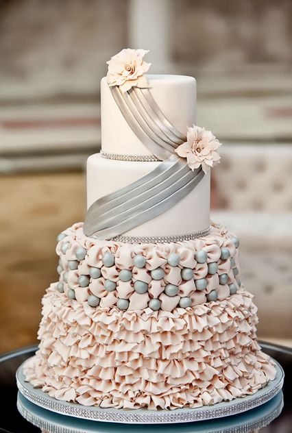 Torta nunziale elegante
