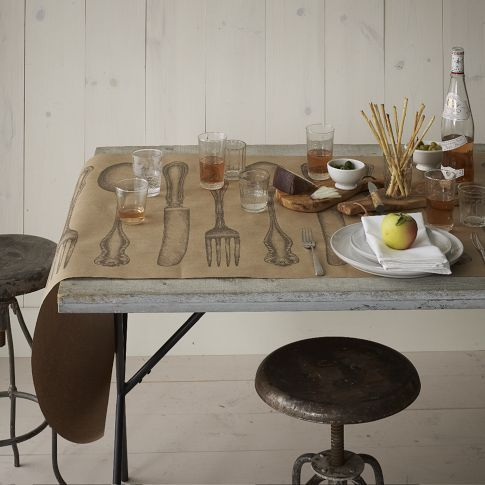 Cake Kitchen Paper - Table Wrap ~ instant dress up for a dinner or a brunch table and an easy clean-up   @ west elm