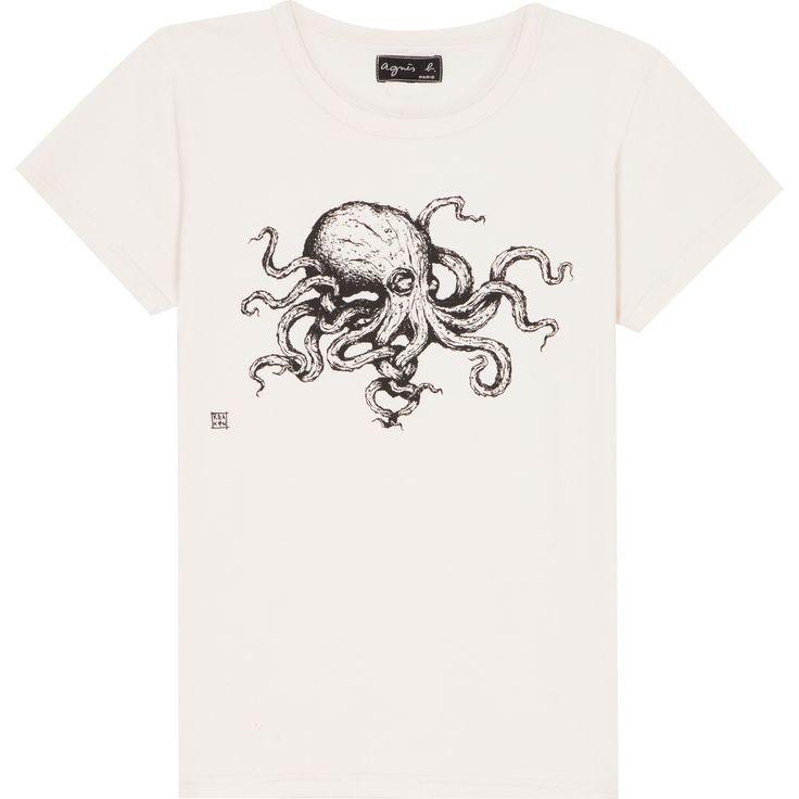 T-shirt KRAKEN beige