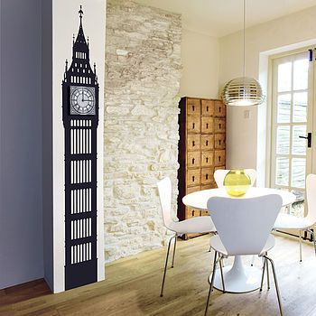 big ben wall sticker clock by funky little darlings | notonthehighstreet.com