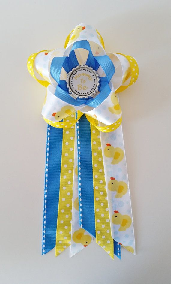 A Rubber Ducky Themed Baby Shower Corsage Or Pin Is The Perfect Baby Shower  Mum To