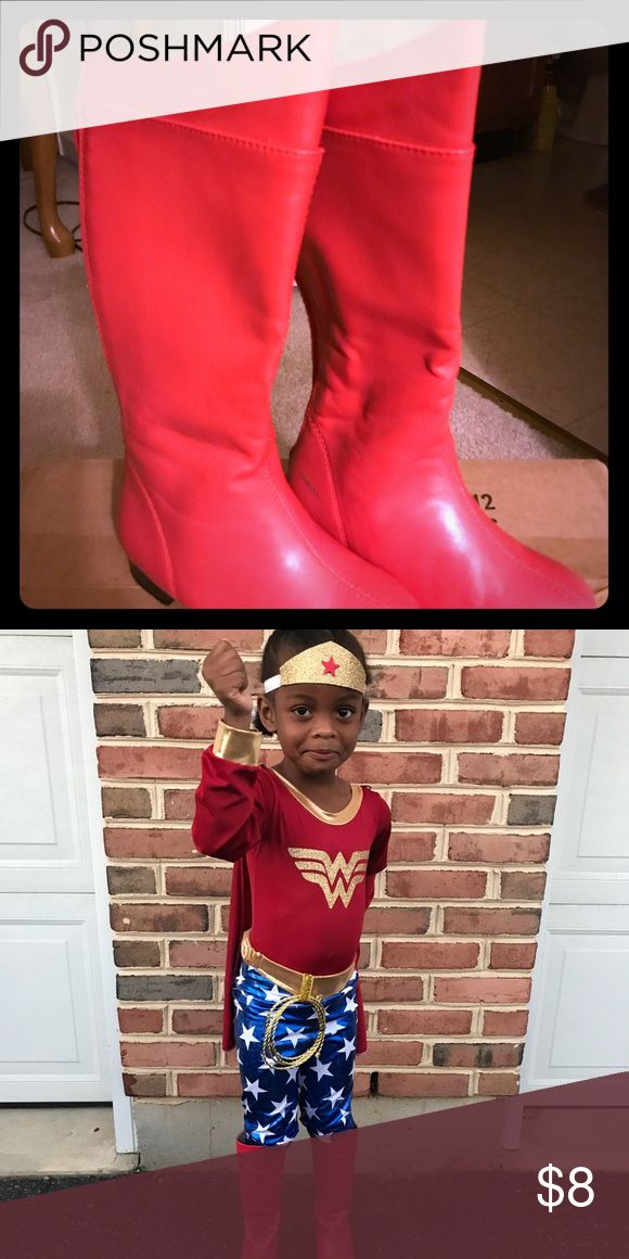 Red knee high boots Can be used for costume or to wear with other things Shoes Boots