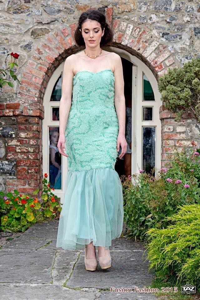 Turquoise Garden Dress On Sale from €340 to €280, buy it online on www.facebook.com/katleenamazonasfashion One off Piece - Size 10