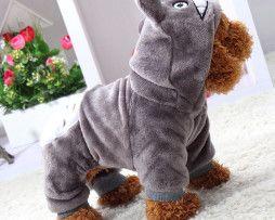 Rozkošný oblek/mikina pre psíka so smajlíkom v sivej farbe