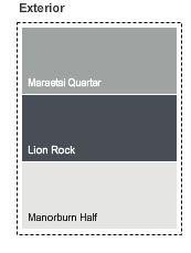 exterior house colour combo
