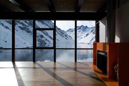 portillo, chile, a spa resort inside a dormant volcano; #travel