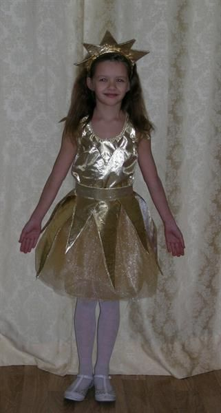 Корона для новогоднего костюма девочки звездочка