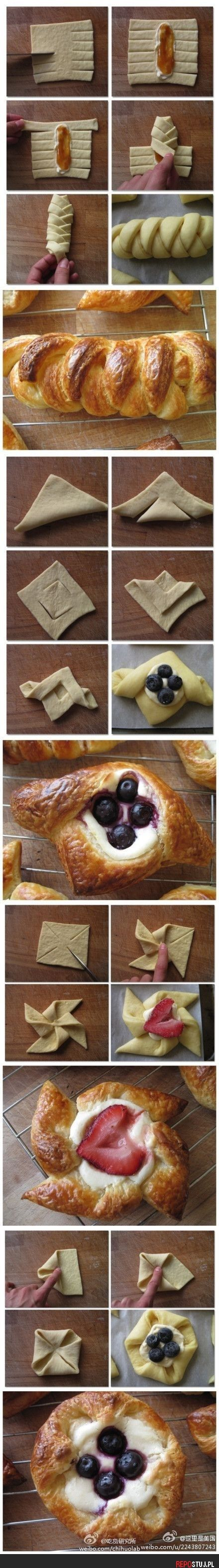 French pastry folding