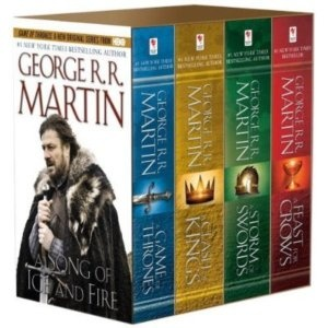 A Song of Ice and Fire is probably my favorite book series ever... Even after the TV-series! The first three books should be enjoyed as audiobooks. The narrator (Roy Dotrice) is just perfect! Who needs a full cast when you have Dotrice????