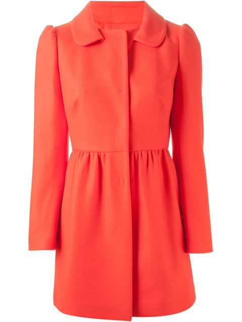 Shop Red Valentino peter pan collar flared coat  in Yusty from the world's best independent boutiques at farfetch.com. Over 1000 designers from 300 boutiques in one website.