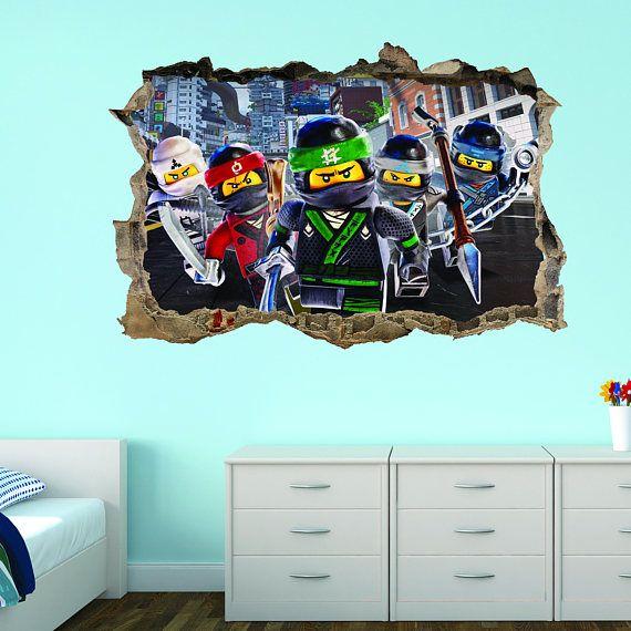 3d Stickers Muur.Lego Ninjago 3d Breakout Muur Sticker Alle Onze Stickers Zijn