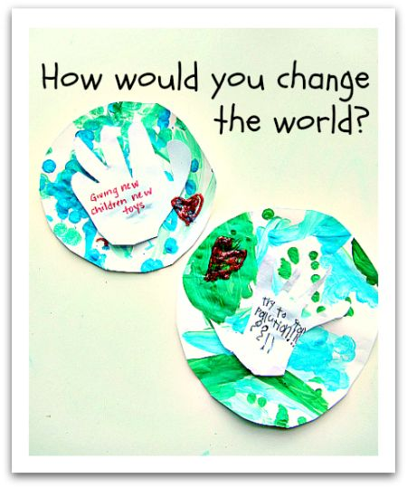 "MLK Craft, ""How Would You Change the World?"" (from No Time For Flash Cards)"
