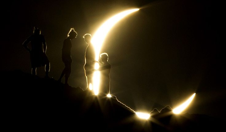 Hikers watch an annular eclipse from Papago Park in PhoenixPhotos, Moon, Moon, Papago Parks, Rings Of Fire, Phoenix, Sun, Solar Eclipse, Solar Eclipes