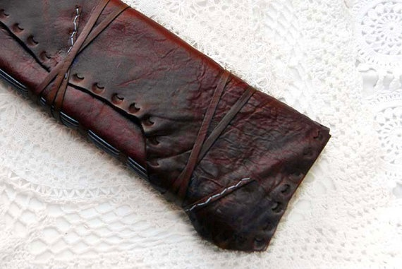 Tall Tales  Large Weathered Rich Burgundy by bibliographica, $135.00 Beautiful, inspiring. I might try a size like this.