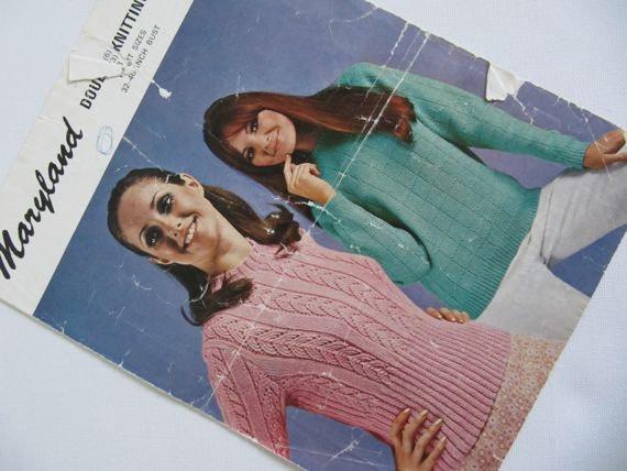 Lace Knit Knitting Pattern Ladies Jumper by DaylightFrockery, £2.50
