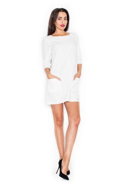Prosta sukienka z kieszeniami KT316