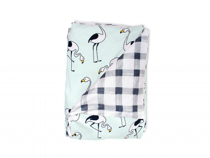 Flamingo Mint Quilt Cover | Sack Me