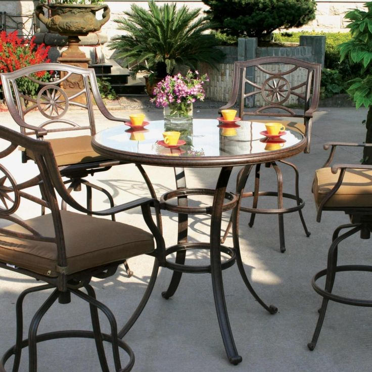 Bar Height Patio Set Design - http://www.rhodihawk.com/bar-height-patio-set-design/ : #PatioSets Bar height patio set – Build patio furniture is as easy as going to the plumbing department at the local hardware store. PVC pipe is especially suited for patio furniture because it is waterproof and resistant to UV rays. It is easy to use, requiring only to firmly cementing paste PVC...