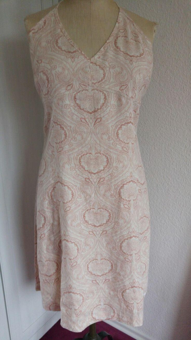 Kleid beige rot