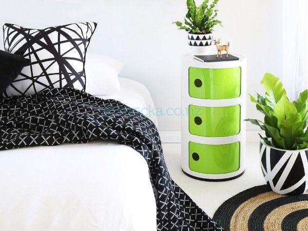 Mocka Post Box 3 White/Green for Austin's room $100