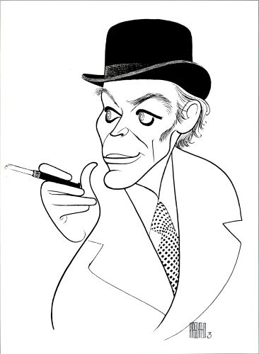 Illustration of Peter O'Toole by Al Hirschfeld