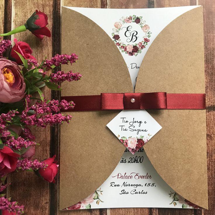 Pin de Анна Агаркова em Свадебные идеи   Convite de