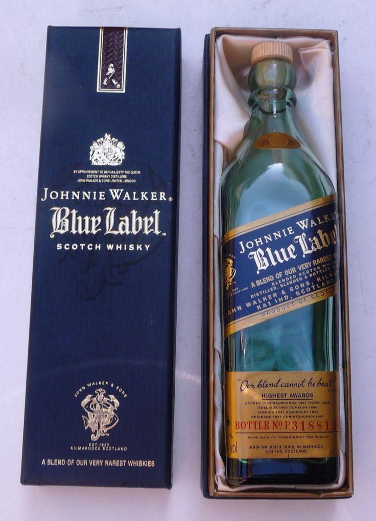 Johnnie Walker Mini Liquor Bottle (Blue Label Scotch Whisky Miniature Alcohol Bottle)