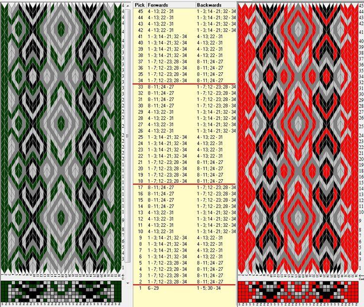 34 tarjetas hexagonales, 4 colores, repite cada 16 movimientos // sed_520_c6…