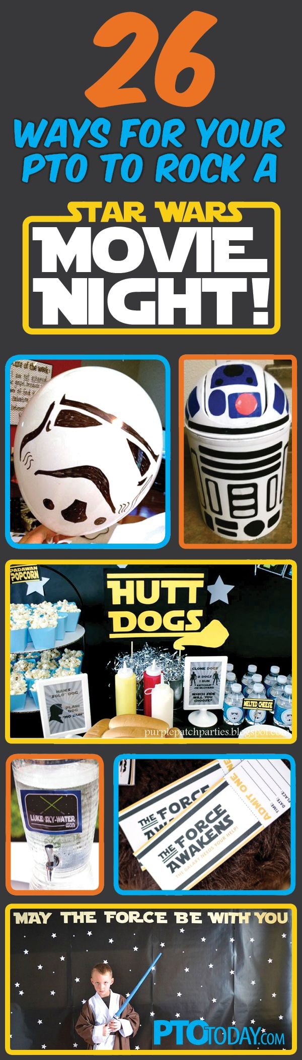 Get all the ideas you need for a fun Star Wars Family Movie Night at your school! #maythefourthbewithyou
