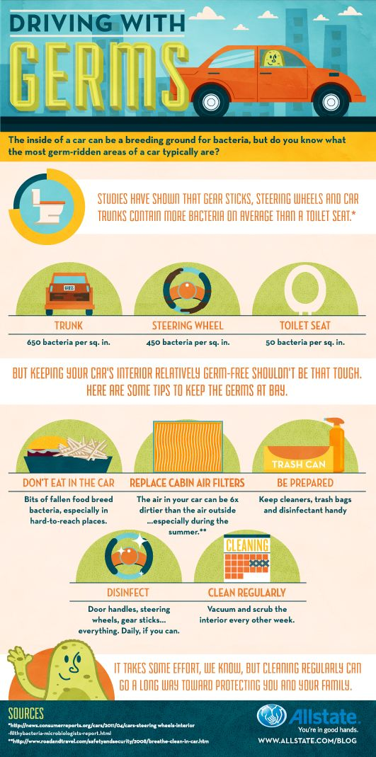 Infographic Driving With Germs Factoids Fun Info