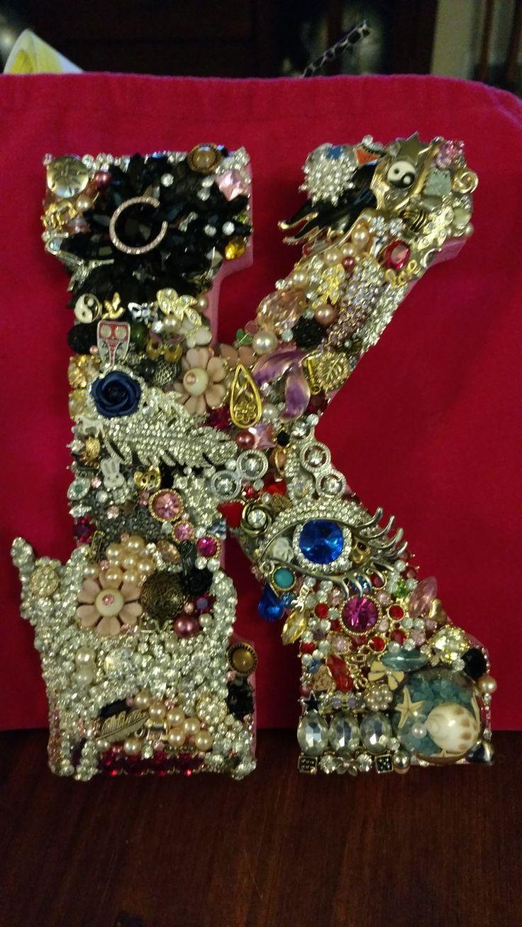 Vintage family jewelry monogram K