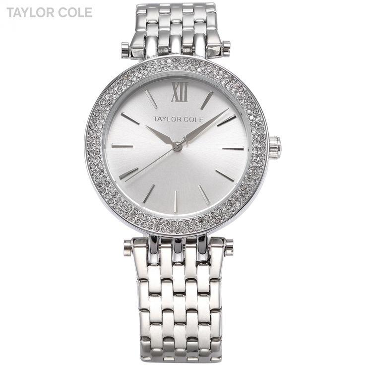 >> Click to Buy << TAYLOR COLE Brand Women Dress Watches Relogio Feminino Silver Rhinestone Stainless Steel Strap Lady Fashion Quartz Watch / TC003 #Affiliate