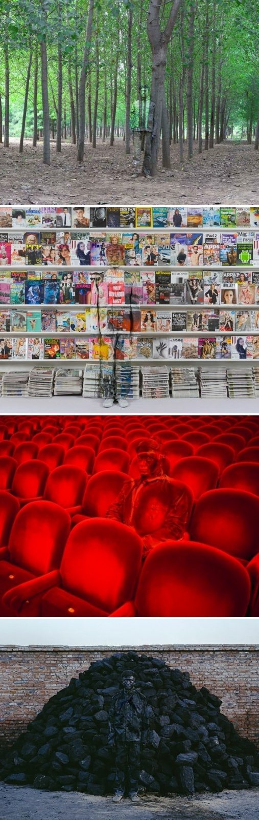 Liu Bolin: hidden people <-- does this make anyone else think of the end of Sherlock Holmes: A Game of Shadows?