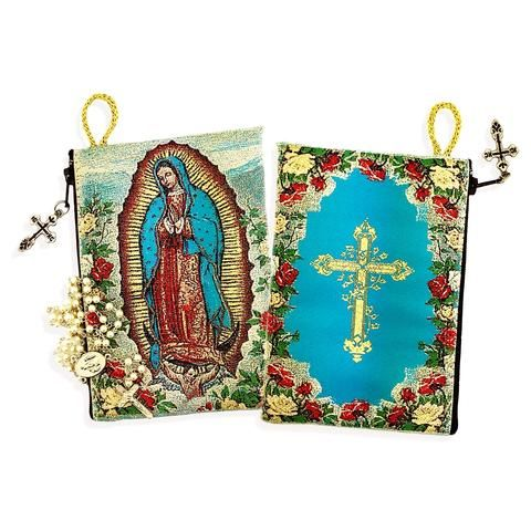 Rosary Icon Pouch - Our lady of Guadalupe   Rosary Pouch   CMJ Marian Publishers