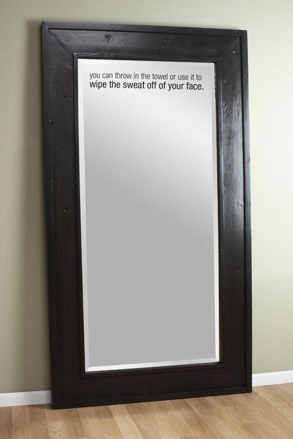 Motivational decal wipe your sweat for gym and workout