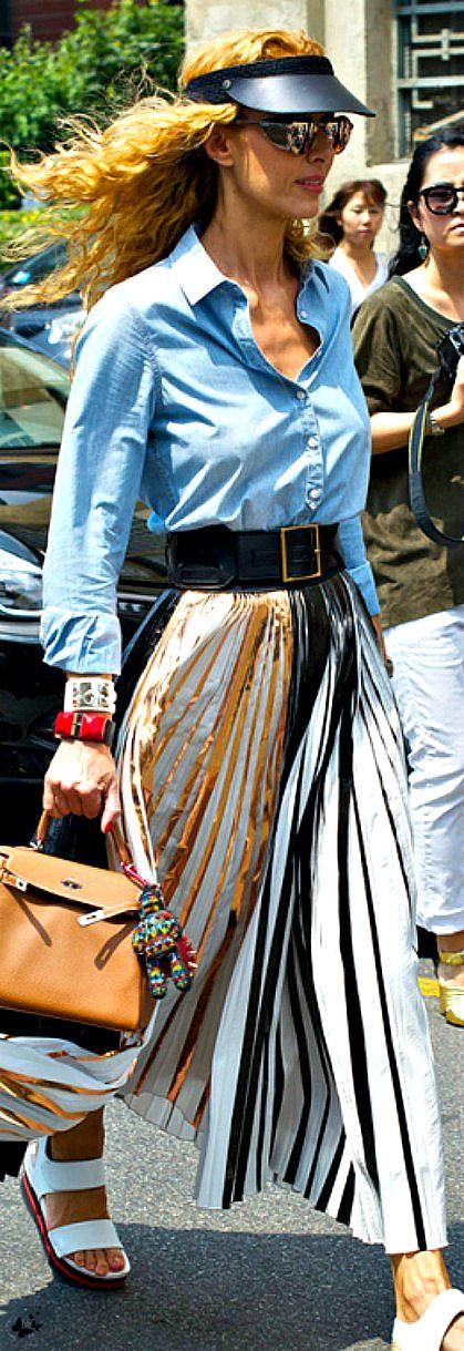 ~Elina Halimi's Fashion Week Street Style - Sporting A Proenza Schouler Skirt & Hermès Kelly Bag | House of Beccaria