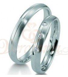 Βέρες γάμου από πλατίνα με διαμάντι Breuning 9005-9006