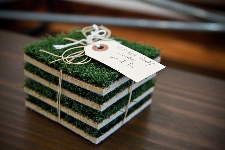 """Every Man Cave needs a little grass in it, even if it is artificial.""  Thanks @Uber Apparatus for featuring our Turf Base Coasters."
