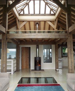 Lofty atrium space at the heart of the Upside-down house on the West coast of Scotland (photo: Mark Nicholson)