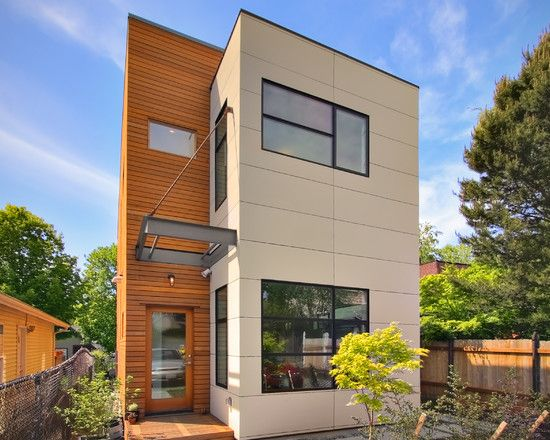 flat roof modern house narrow lot - google search | architecture