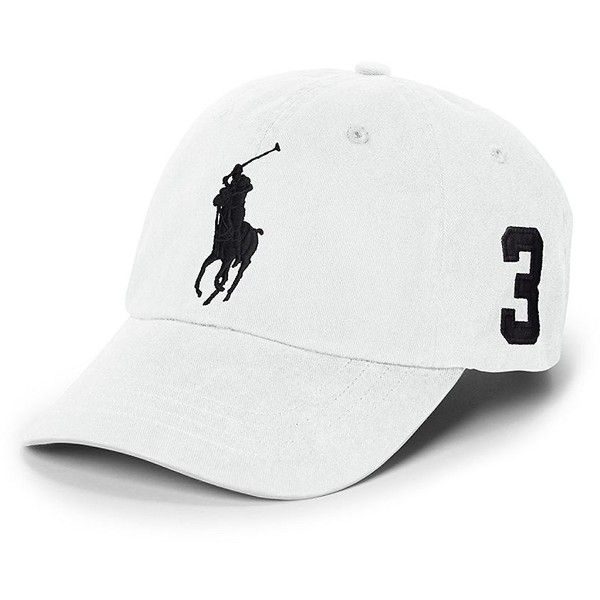 Polo Ralph Lauren Chino Sports Cap found on Polyvore featuring accessories, hats, white, caps hats, embroidered caps, sport hats, embroidery hats and polo ralph lauren hats