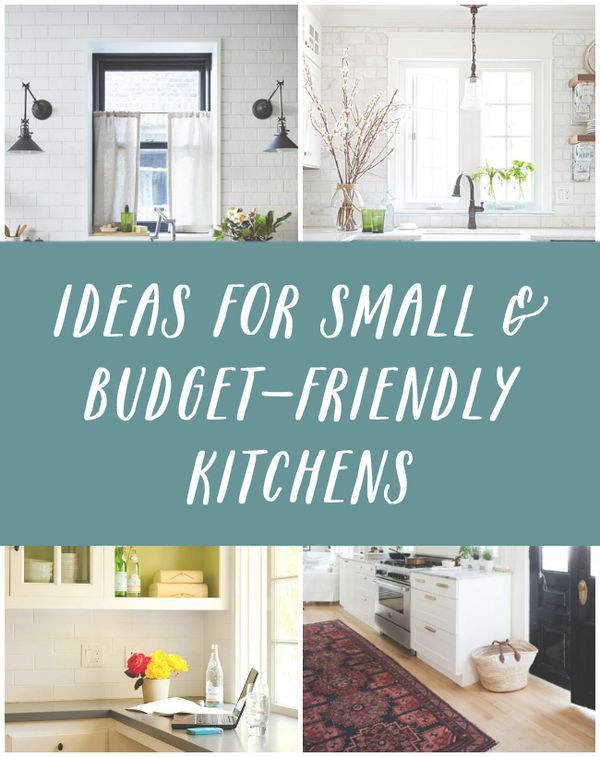 Ideas for small and budget friendly kitchens the for Simple low budget kitchen designs