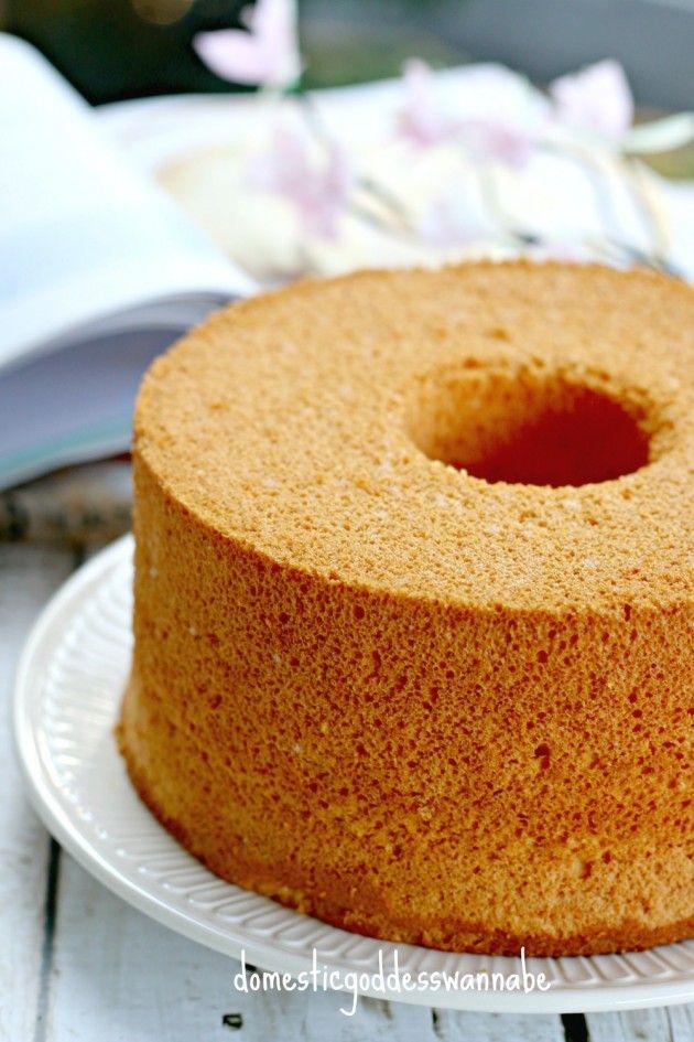 caramel pudding chiffon cake (caramel pudding mix)