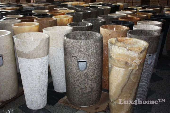 Lux4home™ - Stone sinks producer & stone sinks exporter.  We produce and export river stone sinks, marble sinks, stone washbasins...  Stone sinks manufacturer