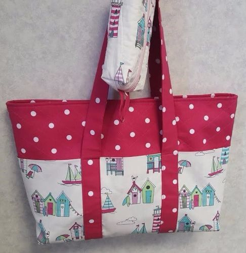 Beach Bag Pattern designed by Juberry Fabrics