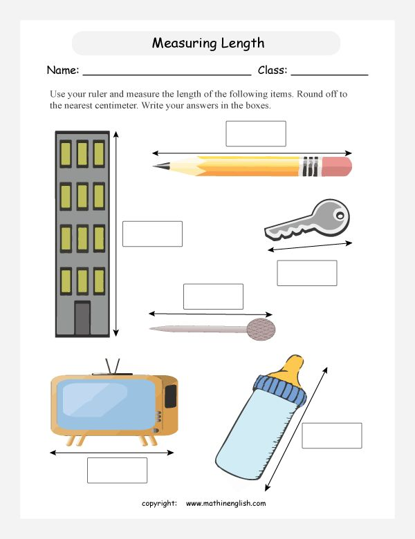 Measuring Length Ws Learning 2nd Grade 2nd Grade