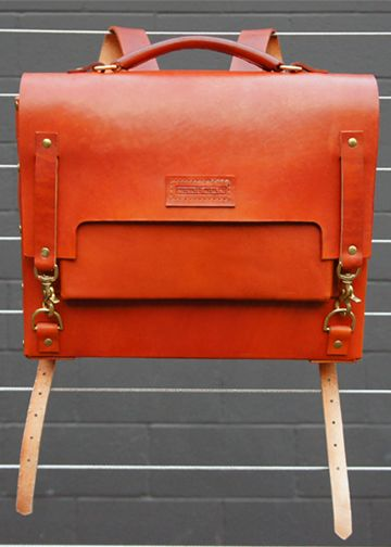 "The Derby. what a gorgeous bag :: "" Made with English Bridle and Brass Hardware, The Derby is 100% Handmade"""