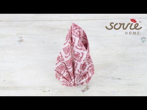 """Servietten falten """"Eleganza"""" - Sovie HORECA - YouTube"""