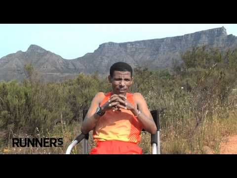 Runner's World Profile: marathon runner Haile Gebrselassie in Cape Town, South Africa