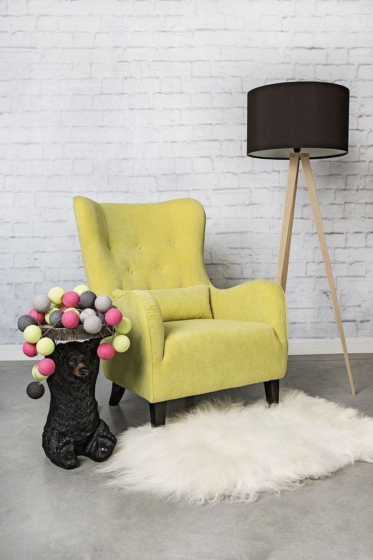 Fotel klasyczny Trees limonkowy | MEBLE \ Fotele WYBIERZ SWÓJ STYL \ Klasyczny WYBIERZ SWÓJ STYL \ Vintage/patchwork MĘSKI DESIGN | 9design Warszawa